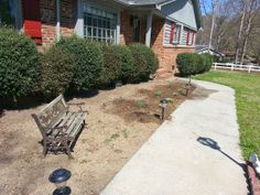 another view of front flower bed