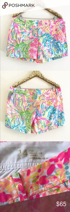 "Lilly Pulitzer Callahan Short Lovers Coral New with tags attached, perfect condition. Inseam is 5"" Lilly Pulitzer Shorts"