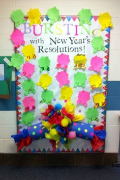 January New Years Bulletin Board