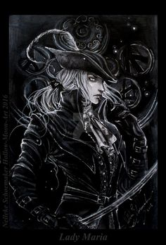 Lady Maria - BLoodborne the old hunters finished by Hollow-Moon-Art on DeviantArt