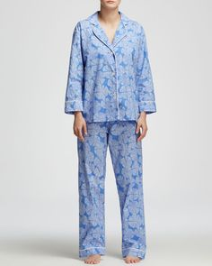 Marigot Collection Lorient Block Long Pajama Set
