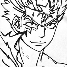 Drawing of laxus - fairy tail.