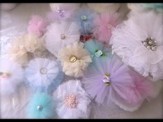Cheap and Chic: Super Quick and Pretty Tulle Flowers http://www.youtube.com/user/tootookawaii