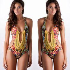 Sexy-Femmes-Une-piece-Push-Up-rembourre-Monokini-Bikini-plage-Maillots-de-bain
