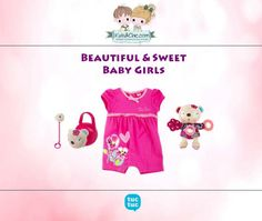 #Beautiful #look for #babygirls  from  #TucTuc. Check at   www.kidsandchic.com/baby  #girlsclothing #girlsfashion #kidsfashion #trendychildren #kidsclothing #shoppingbarcelona #romper #toys #dummychain #dummybox #spain #barcelona