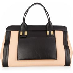 Chloé Alice leather tote ($1,925) ❤ liked on Polyvore