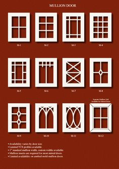 TNT Cabinet Door Details for Mullion Door