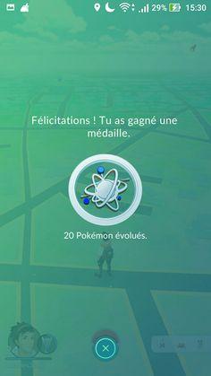 Médaille 20 pokémons évolués  #pokémongo