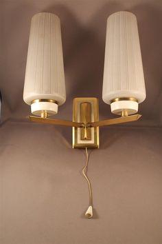Original 60er Jahre Wandlampe Lampe Glas von ZeitreiseFrankfurt, €47.00