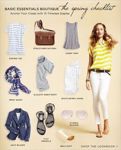 Spring wardrobe staples by angela