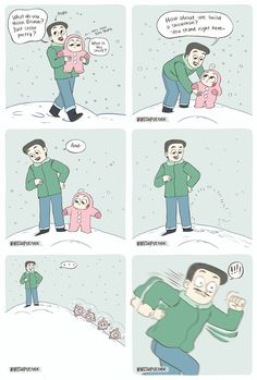 First Snow Encounter Funny Laugh, Funny Shit, Funny Stuff, Funny Memes, Childhood Friends, My Childhood Memories, Funny Cute, Hilarious, Life Comics