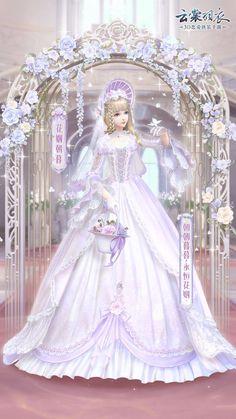 Fantasy Dress, Anime Fantasy, Fantasy Art, Anime Outfits, Girl Outfits, Japonese Girl, My Hime, Nikki Love, Anime Princess