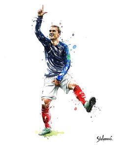 Antoine Take the L Football Is Life, Football Art, Chelsea Football, World Football, Antoine Griezmann, Madrid Wallpaper, Soccer Art, Messi And Ronaldo, Football Wallpaper