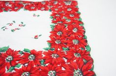 Vintage 40s 50s Poinsettia Christmas by SycamoreVintage on Etsy