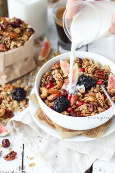 You searched for granola Healthy Breakfast Recipes, Brunch Recipes, Gourmet Recipes, Healthy Recipes, Free Recipes, Breakfast For Kids, Breakfast Bowls, Easy Cooking, Vegan Gluten Free