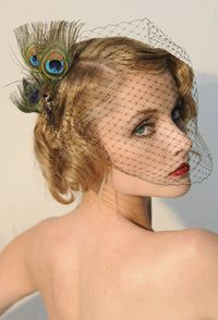 Birdcage veil #Peacock Wedding ...Wedding App for brides & grooms, bridesmaids & groomsmen, parents & planners ... the how, when, where & why of wedding planning ... https://itunes.apple.com/us/app/the-gold-wedding-planner/id498112599?ls=1=8  ♥ The Gold Wedding Planner iPhone App ♥