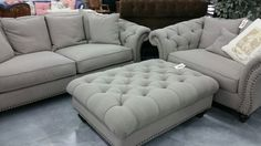 Silver couch, oversized chair (House)