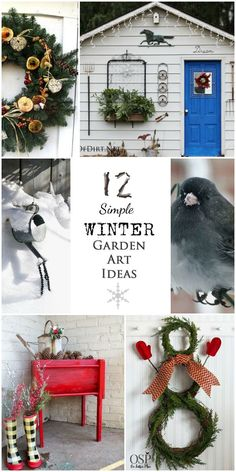 12 Simple Winter Garden Art Ideas - turn your yard into a whimsical work of art while the snow falls!