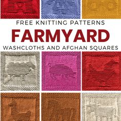 Knitted Dishcloth Patterns Free, Knitted Washcloths, Crochet Dishcloths, Knitting Patterns Free, Free Knitting, Baby Knitting, Knitting Blocking, Knitting Squares, Loom Knitting