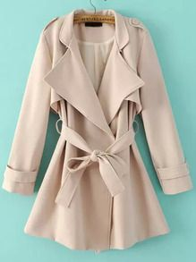 Trench taille nouée -beige