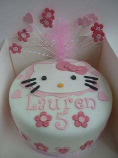 Image detail for -Hello Kitty Birthday Cake Maisie Cakes. Mary...I may need one of these this year. :)