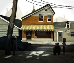 Lou's Toy Store by Moran Tennenbaum, via Behance | Great opportunity for a character vignette