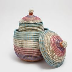 $29- $49 Image 6 of the product Multicoloured oval basket with a lid