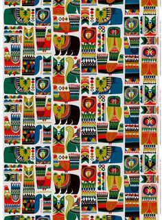 Maa, kasvit, eläimet, taivas. Upeat eläinhahmot niin Suomen kuin Afrikankin eri kolkista täyttävät Sanna Annukan suunnitteleman Kukkuluuruu-kuosin. Kestävä ja paksu sataprosenttinen puuvillakangas luo keveyttä tilaan kuin tilaan. Se on omiaan pöytäliinaan tai seinätauluun, ja voit loihtia siitä myös upean mekon tai kantoliinan.