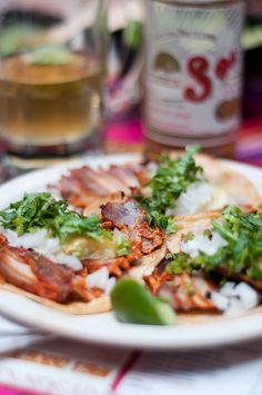 Tacos al pastor in Mexico City - Have you ever had these?? I've heard they are very yummy!