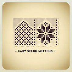 Maskedilla:  Baby-selbuvotter♥  Søte og enkle votter, uten t...