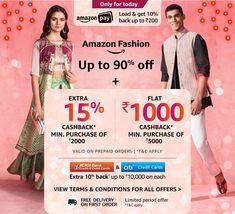 Amazon Fashion Amazon Sale, Bank Card, Indian Festivals, Budgeting, How To Apply, Shopping, Fashion, Moda, Fashion Styles