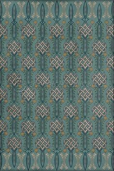 With its nobly intricate knot motif, the Vignette Matilda Vinyl Floor Cloth introduces some heraldic flair to your lodge home. Vinyl Sheet Flooring, Vinyl Floor Mat, Vct Tile, Turquoise Tile, Peel And Stick Vinyl, Floor Cloth, Luxury Vinyl Tile, Creative Colour, Outdoor Settings