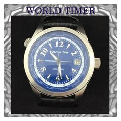 """World timer automatic wrist watch Moscow Time"" by konstantinantiques on Polyvore featuring men's fashion and menswear"