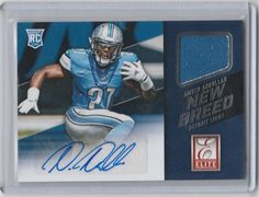 2015 Panini Donruss Elite New Breed Jersey/Auto  Ameer Abdullah Detriot Lions RC #DetroitLions