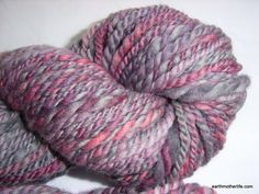 Plum Dance - soft bulky weight merino 2 ply handspun yarn by EarthMother Designs