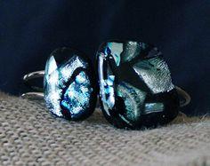 """Fireball XL5"" Springloaded Cuff Fused Glass Art, My Glass, Cufflinks, Gemstone Rings, Gemstones, Accessories, Jewelry, Jewlery, Gems"