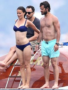 Three, two, one! The couple prepare to dive Romantic: Prince Carl Philip of Sweden and his fiancee Sofia Gellqvist enjoyed a romantic break on a yacht moored off the coast of St Tropez last month