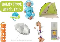 Babys First Beach Trip. Tips and gear to safely bring baby to the beach. #summer #baby #beach