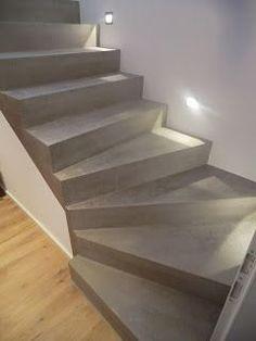 BETON CIRE Oberflächen in BETON LOOK: Und Wieder eine Treppensanierung mit BESSERBAUEN® BETON CIRE
