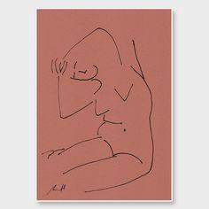 Yoga Croquis Art Print by George Sand Studio NZ Art Prints, Art Framing Design Prints, Posters & NZ Design Gifts   endemicworld