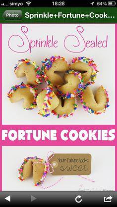 Galletas de la suerte dulces!!