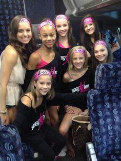 Payton, Mackenzie, Nia, Kendall, Paige, Brooke, and Maddie sporting their new Abby Lee dance wear. #DanceMoms