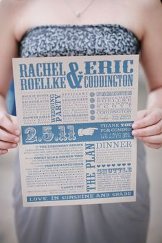 Fantastic Flier Wedding program.