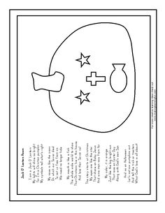 100 Day Activities Christian Pumpkin Carving Poem/Color ...