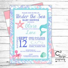 under the sea baby shower invitation by on etsy