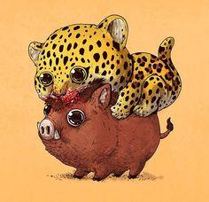 15 cartes d'animaux mignons mais sanguinaires, ThugLife mais comme dans la jungle.