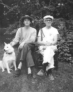Paul McCartney and Willem de Kooning in 1983. De Kooning was a family friend. Photo (probably) by Linda.