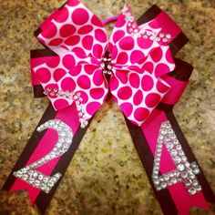 On Sale Large Bling Boutique Hair Bow OTT MTM School or Team Colors on Etsy, $12.00