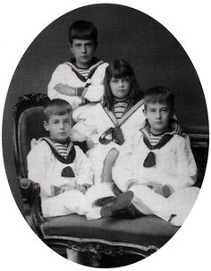 """Children of Grand Duke Vladimir Alexandrovich. In her memoirs, their cousin (and Kirill's future sister-in-law) Marie of Romania called them """"the most beautiful children imaginable."""" """""""