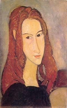 #024 ❘ Amedeo MODIGLIANI (1884 - 1920) ❘ Portrait de Jeanne Hébuterne ❘ 1919 ❘ Huile sur toile ❘ 55 x 38 cm